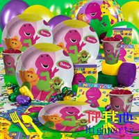 barney party supplies - School children birthday party supplies white card birthday party supplies gift dinosaur Barney people basically loaded