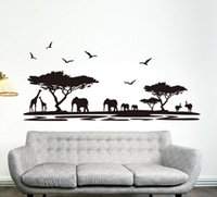 africa american art - Personality Design Black Fashion Africa Animals Wall Stickers Background Fashion Bar Glass Sitting Room Home Decor