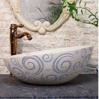 Wholesale European art sanitary ware of toilet stage basin the sink of the basin that wash a face