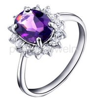 Wholesale Amethyst ring Natural real amethyst sterling silver rings Perfect jewelry Gemstone ring DH