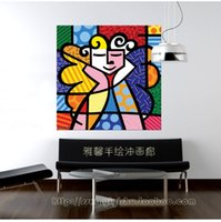 acrylic painting portrait - Acrylic painting portraits painted decorative painting frame painting modern Romero Britto pop painting