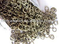 Wholesale 6mm antique brass bronze jump rings split rings Jewelry Findings Jewelry Accessories Fittings Components