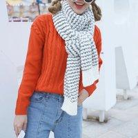 Wholesale Sign Dongkuan Korean Shopping couple models warm winter mohair wool scarves longer thicker blending
