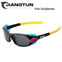 baby google - 2015 Kids Sunglasses Brand Designer Polarized Sun Glasses Boys Girls Baby Outdoor Google With Cute Car Cartoon Oculos Infantil