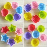 Wholesale 7CM cupcake silicone cake Cup molds cake muffin cases silicone chocolate molds single cupcake holder baking tools