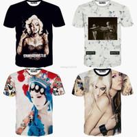 Wholesale 3D t shirt Women Men Off white Marilyn Monroe Peking opera Sexy lady t shirts Galaxy Harajuku summer clothes tops