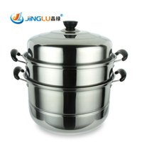 stainless steel induction cooker - to stainless steel steamer pot stew pot layer cooking pot can be induction cooker