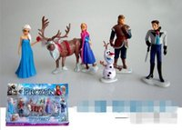 Cheap Retail Frozen Figure Play Set,Frozen Princess Anna Elsa 6 figure set,movie princess doll toy WD1068