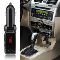 Wholesale 2015 Universal Bluetooth MP3 Player FM Transmitter Handsfree Car Kit Support USB MP3 and SD Card with Car USB charging port