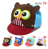Ball Cap baby spells - Baby hats bear children boy cap baseball cap Spell color owl cap dandys