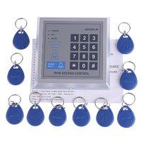RFID Contraseña Proximidad Entrada Cerradura de Puerta Sistema de Control de Acceso + 10 Llaveros Etiquetas Para 500 Usuarios