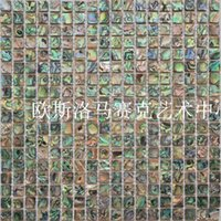 abalone tiles - Natural handmade abalone shell mosaic TV backdrop entrance background grade green building materials tile wall stickers