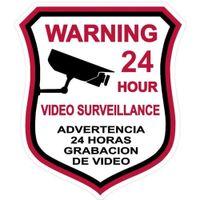 alarm sign - VIDEO SURVEILLANCE Security Burglar Alarm Decal Warning Sticker Signs