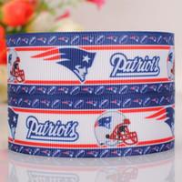 baseball grosgrain ribbon - 7 quot mm baseball team patriots Sport Printed grosgrain ribbon hairbow DIY handmade