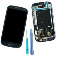 For Samsung galaxy s3 digitizer - 1 Piece LCD For Samsung Galaxy S3 I9300 I9308 I9305 T999 i535 I747 LCD Display Digitizer Touch screen with frame cover Assembly