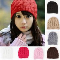 Wholesale Woolen Hat Caps Warm Hat Snapback Women Winter Hats Fashion Fashion Womens Knit Crochet Ski Hat Winter Warm Braided Baggy Beret Beanie Cap