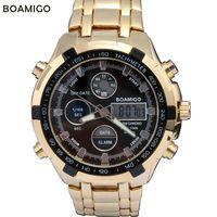 alarm chronograph watch - Mens Stainless Steel Watches Boamigo Men S Sporty Watch Luminous Alarm Chronograph Digital Waterproof Watches Relogio Feminino