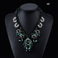 Wholesale Fashion Women s Must Have Luxurious Diamond Colorful Necklace Fashion jewelry Clavicle necklace Style with Independent OPP packaging