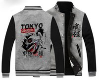 Wholesale High Quality Unisex Anime Tokyo Ghoul Hoodie Jacket Baseball Uniform Cosplay Coat