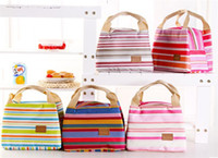 Wholesale Outdoor Thermal Insulated Lunch Box bag Tote Cooler Canvas Zipper Bag Bento Lunch Pouch Hot Insulation Bag