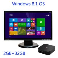 Wholesale Vensmile W8 Intel atom Z3735F Quad Core CPU MINI PC with Windows OS GB GB Storage Intel box Mini computer support TF card