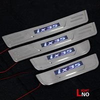 Wholesale 2015 Real Steering Wheel Led Door Sill Scuff Plate Stainless Steel for Hyundai Ix35 Factory High Quality