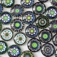 Wholesale mm Mixed Style Flower Glass Cabochon Dome Jewelry Finding Cameo Pendant Settings K03399
