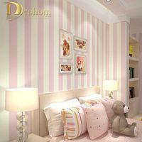 bedroom feature wall - Cozy Bedroom Vinyl Wallpaper Blue White Stripe Wall paper Wallpaper Roll Modern Feature Vertical Striped R10
