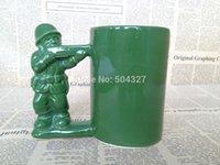 coffee mugs - Pieces Green Army Man Mug Army Guy Mug Solider Coffee Mug