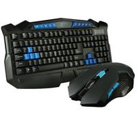 Wholesale USB waterproof multimedia wireless keyboard mouse set desktop office Internet bar game lol mouse