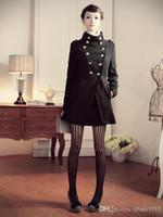 Nuevo abrigo de la moda de las mujeres capa / uniforme militar de Napoleon doble capa del invierno del pecho / la prendas de vestir chaqueta / chaqueta estilo militar