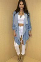 best seller jeans - Best seller Imitation Jeans Long Sleeved Denim Coat Irregular Tops Clothes