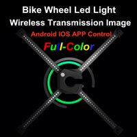 led picture light - 192 Full Color LED Waterproof Bluetooth Bike Bicycle Wheel Light App Wireless transmission change the picture