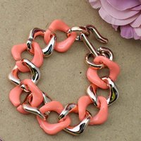 Wholesale 1 Chunky Bracelets Bangles Colorful Gold Chain Jewelry Fashion Decorating order lt no tracking