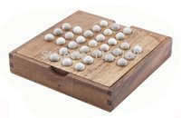 Cheap Wholesale-Peg Solitaire Solo Noble Puzzle IQ Brain Teaser Wooden Board Game Toy for Adults and Children