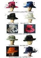 Wholesale Sinamay hat church hat sell in mix style for races party and wedding BY EMS