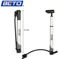 Wholesale BETO Portable Mini Aluminium Alloy Bicycle Bike Air Pump Cycling Tire Inflator Floor Type g CO