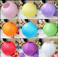 Wholesale cm Chinese paper lantern lamp festival wedding decoration colors for choosing