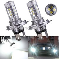 Wholesale 2pcs H4 W High Power Car LED Fog DRL Daytime Running Light Bulb Auto Headlight Hi Lo Light Source DC12 V