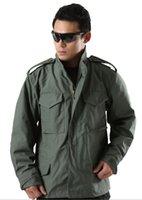 alpha male - Fall Outdoor men American Military Tactical M65 Alpha Jacket male US army windbreaker sports multi pocket hooded coat