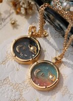 Wholesale Fairy fantasy universe planet Saturn moon necklace long sweater chain girlfriend Christmas birthday gift