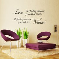 Wholesale Wall Stickers Home Decor English Letters Love Stroy Bedroom Sofa Backdrop Of Three Generation Removable Wall Stickers WS4039