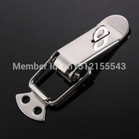 Wholesale 1 pc NEW Silver Case Box Chest Spring Loaded Stainless Tone Draw Lock Toggle Latch
