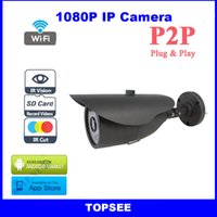 Wholesale P2P HD P Camera MP high resolution support ONVIF CCTV cheap Security IR LED Night Vision IP Network ipcam