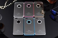 Wholesale iphone Plus Luxury Diamond mirror surface Case Cover for iPhone Plus dhl