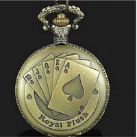 best poker tables - bolsos steampunk Classical Vine Style bronzy plated Quartz Necklace Antique Poker Pocket Watch Best christmas Gift fashion necklace table