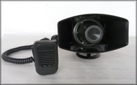 Wholesale High quality TWO IN ONE DC12V tones W police siren alarm amplifiers car warning horn motorcycle speaker