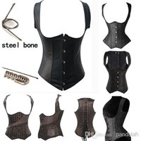 Cheap Full Steel Bone Waist Training Corset Sexy Bustiers Hanging Shoulder Training Corset Women Push Up Hot Body Shapers Fashion 3 Styles