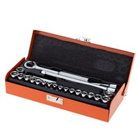 Wholesale Pro sKit Multi functional quot Driver Socket Set Ratchet Wrench Screwdriver Kit Suitable for Electrical Industrial E0873