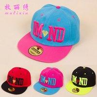 Wholesale Korean the Spring Tide cap embroidered hip hop hip hop hat lady letter DMND hat baseball cap flat brimmed hat a002